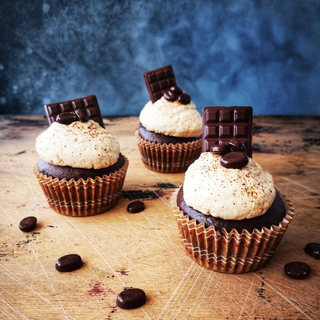 Chocolade mokka cupcakes