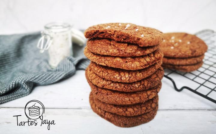 Gezouten brownie koekjes