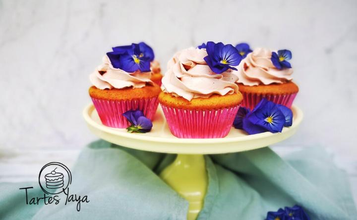 Cupcakes met ruby chocolade