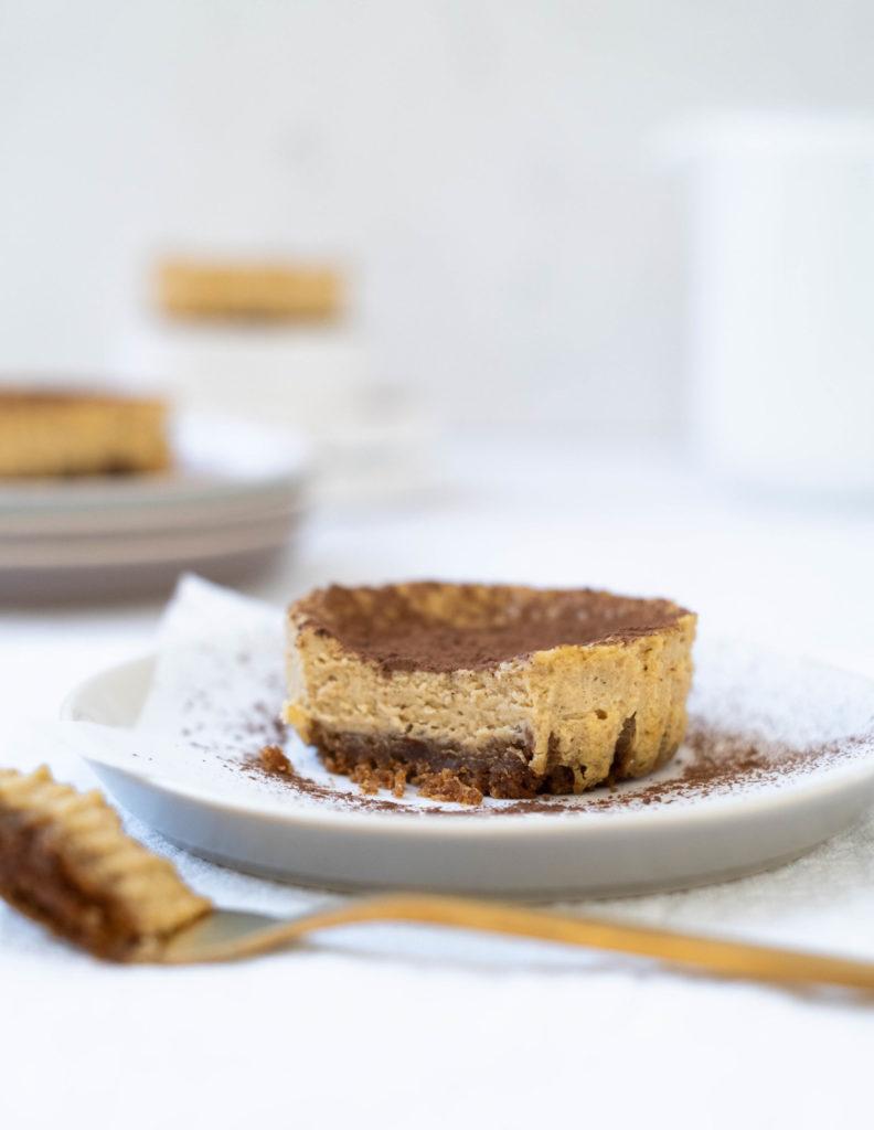 Mini espresso cheesecakes
