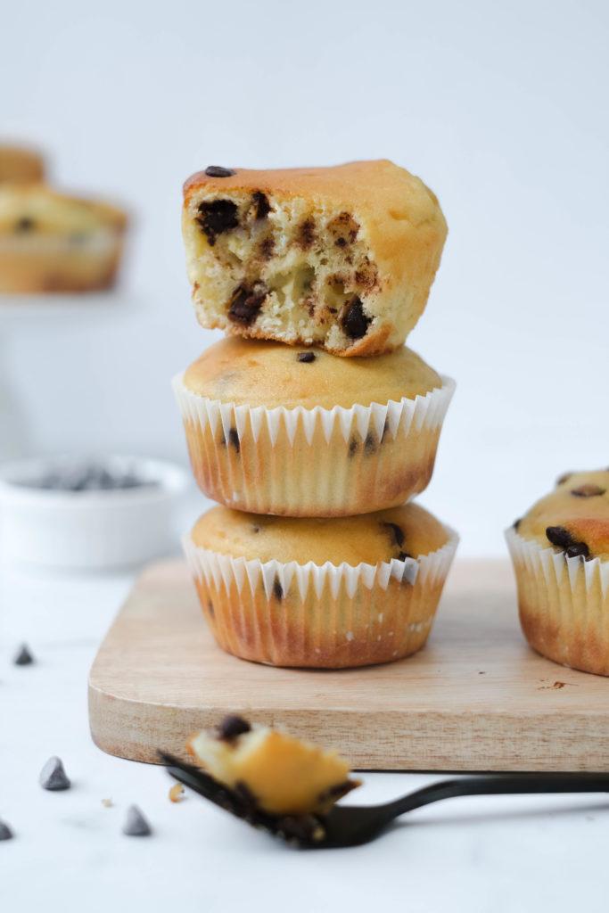 Muffins met chocolade en Griekse yoghurt